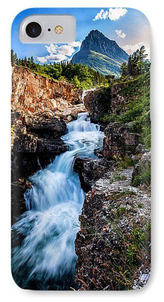 Swiftcurrent Falls IPhone Case by Aaron Aldrich