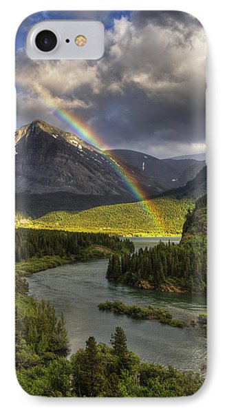 Swiftcurrent River Rainbow IPhone Case by Mark Kiver