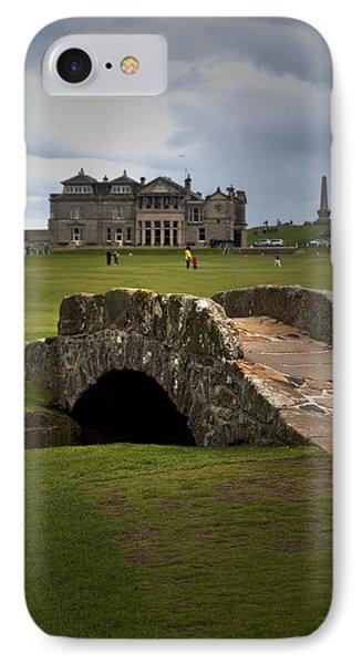 Swilken Bridge Vignette St Andrews Old Course Scotland IPhone Case by Sally Ross