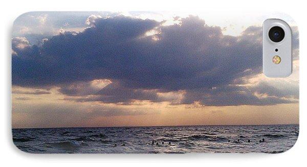 Swim Before Storm Phone Case by Patrick Mancini