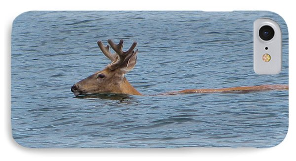 Swimming Deer IPhone Case by Leone Lund