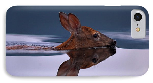 Swimming Fawn IPhone Case by Jane Axman