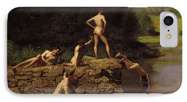 Swimming Phone Case by Thomas Eakins