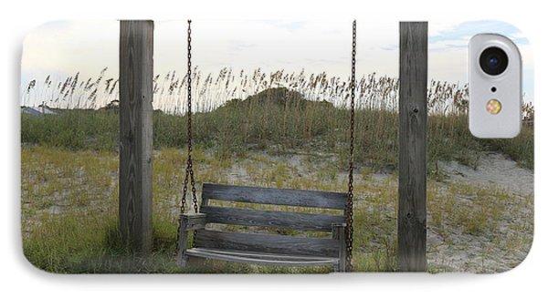 Swing On The Beach IPhone Case by Carol Groenen