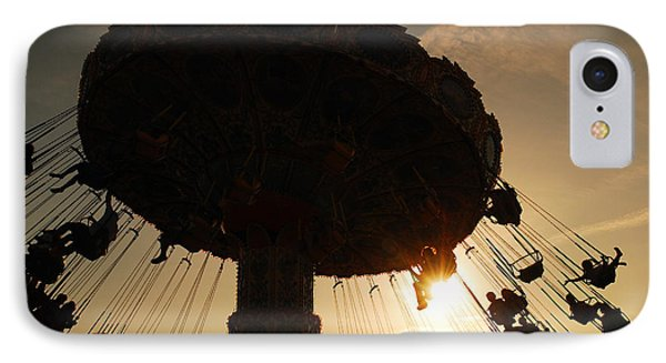 Swing Ride At Sunset IPhone Case by James Kirkikis