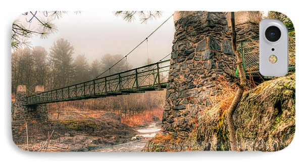 IPhone Case featuring the photograph Swinging Bridge Before The Storm by Mark David Zahn Photography