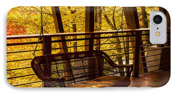 Swinging In Autumn Trees Original Photograph IPhone Case