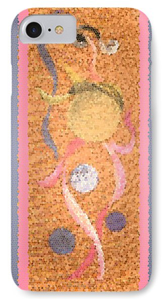 Swirl Body Bubble Person Dancing With Ribbons Twirling Phone Case by Kristie Hubler