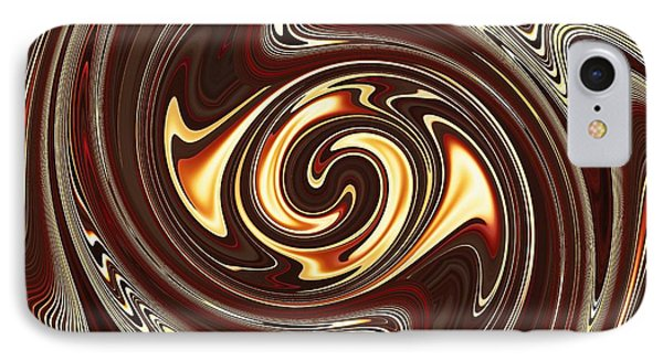 Swirl Design On Brown Phone Case by Sarah Loft