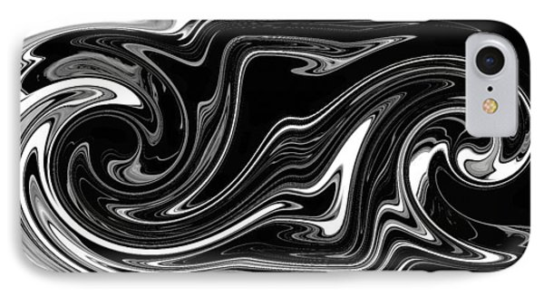 IPhone Case featuring the digital art Swirl Of Everything And Nothing by rd Erickson