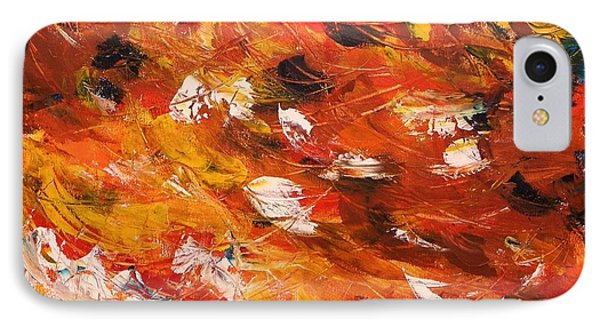 IPhone Case featuring the painting Swirling And Dancing by John Williams