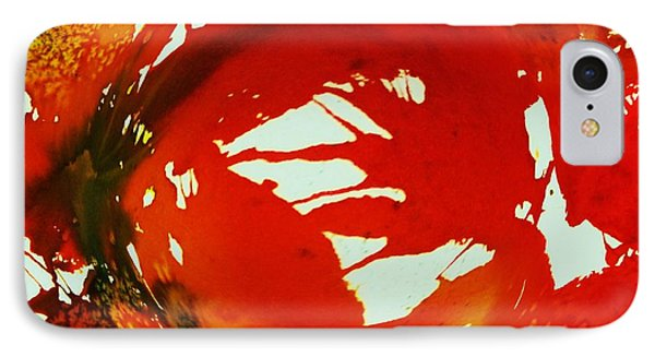 Swirling Crimson Abstract IPhone Case