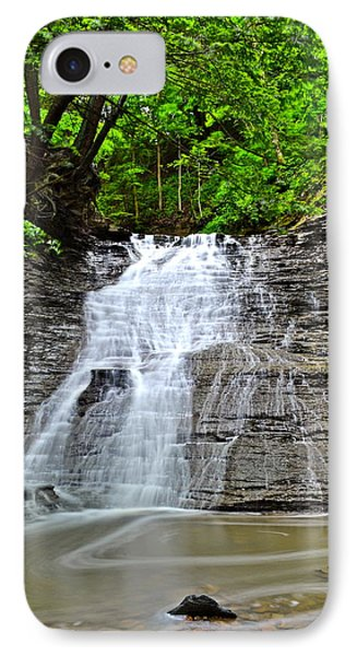 Swirling Falls Phone Case by Frozen in Time Fine Art Photography