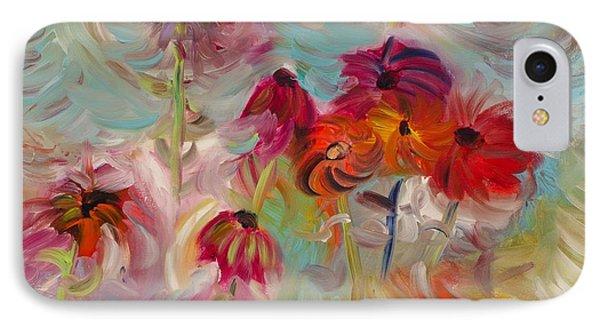 Swirling Flowers IPhone Case