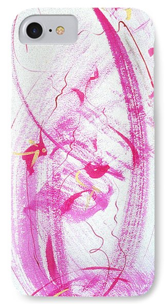 Swirling In Magenta Pink IPhone Case