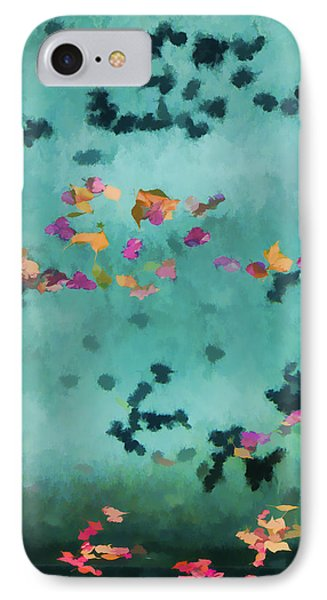 Swirling Leaves And Petals 1 Phone Case by Scott Campbell