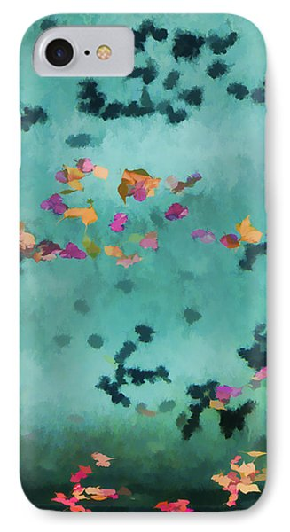 Swirling Leaves And Petals 1 IPhone Case by Scott Campbell