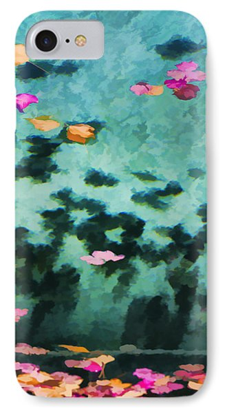 Swirling Leaves And Petals 4 Phone Case by Scott Campbell