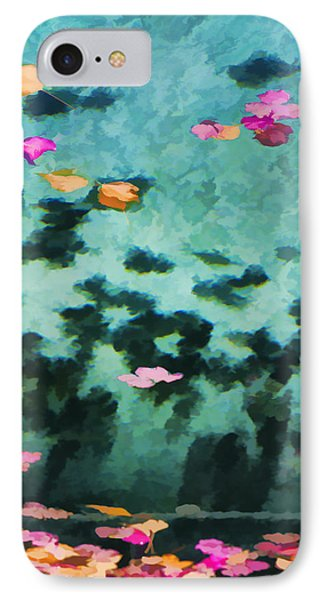 Swirling Leaves And Petals 4 IPhone Case by Scott Campbell