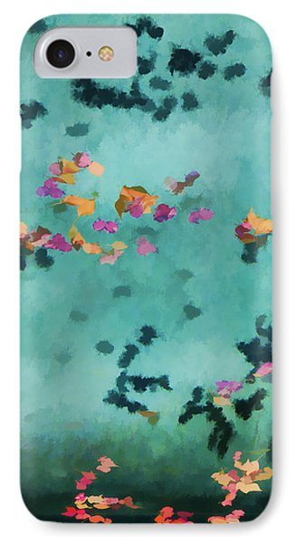 Swirling Leaves And Petals 5 Phone Case by Scott Campbell