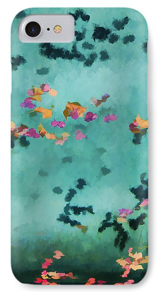 Swirling Leaves And Petals 5 IPhone Case by Scott Campbell