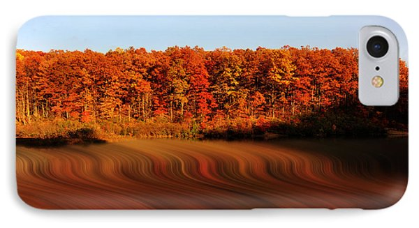 Swirling Reflections With Fall Colors Phone Case by Dan Friend