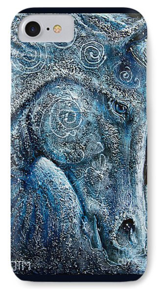 Swirling Spiraling Snow IPhone Case by Jonelle T McCoy