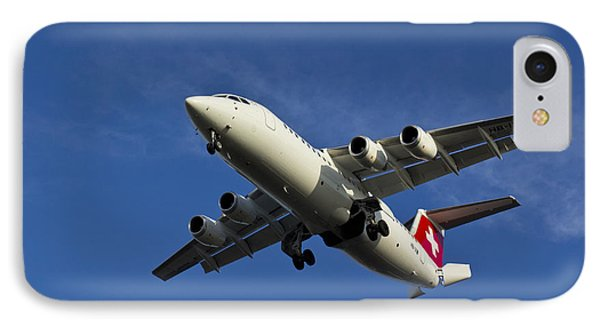 Swiss Air Bae 146 Phone Case by David Pyatt