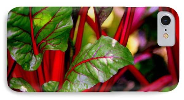 Swiss Chard Forest Phone Case by Karen Wiles