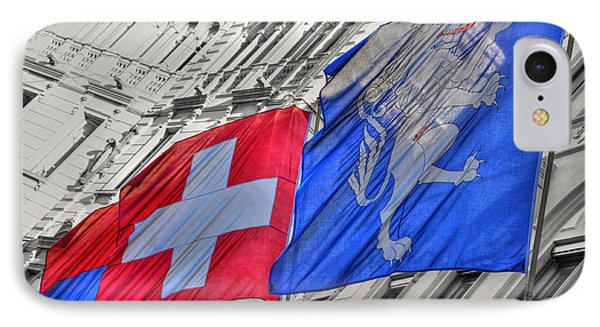 Swiss Flags  Phone Case by Mats Silvan