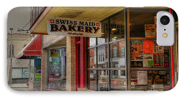 Swiss Maid Bakery Phone Case by David Bearden