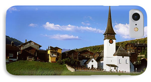 Swiss Village In Rhone Valley IPhone Case by Panoramic Images