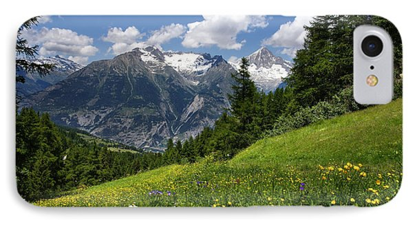 IPhone Case featuring the photograph Switzerland Bietschhorn by Annie Snel