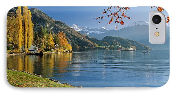 Switzerland, Canton Lucerne, Lake IPhone Case by Panoramic Images