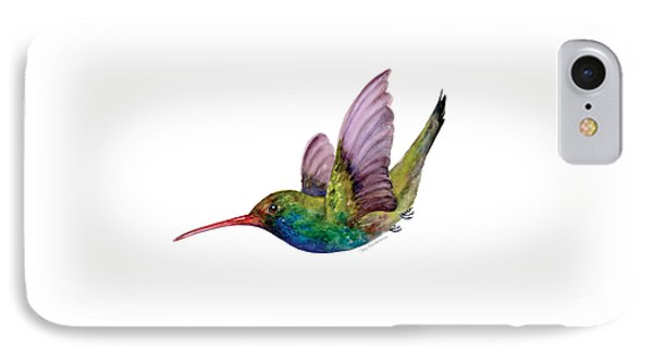 Swooping Broad Billed Hummingbird IPhone 7 Case by Amy Kirkpatrick