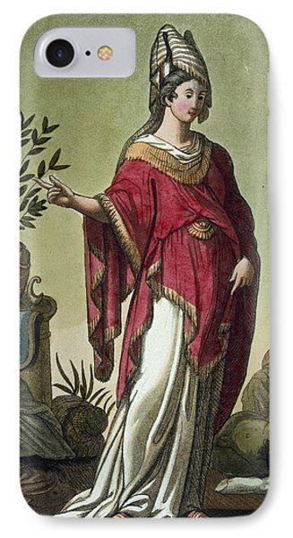 Sybil Of Eritrea With Her Insignia, 1796 IPhone Case by Jacques Grasset de Saint-Sauveur