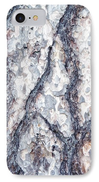 Sycamore Bark Abstract IPhone Case by Tom Mc Nemar