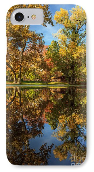 Sycamore Pool Reflections IPhone Case by James Eddy