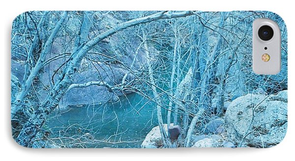 IPhone Case featuring the photograph Sycamores And River by Kerri Mortenson