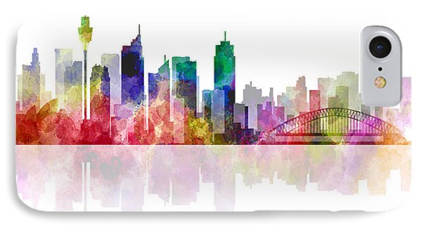 Sydney Australia Skyline 2 IPhone Case by Daniel Hagerman