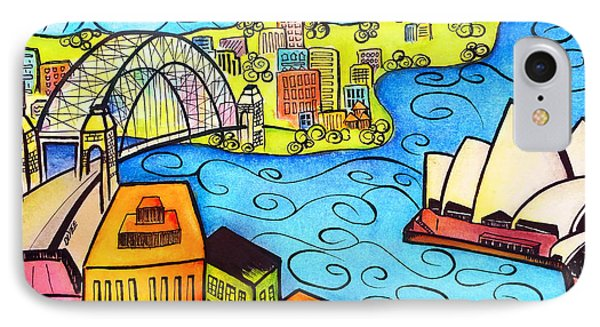 Sydney Harbour  Phone Case by Oiyee At Oystudio