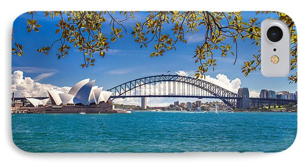 Sydney Harbour Skyline 2 IPhone Case by Az Jackson