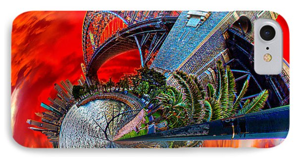 Blazing Skies Over Sydney IPhone Case by Az Jackson