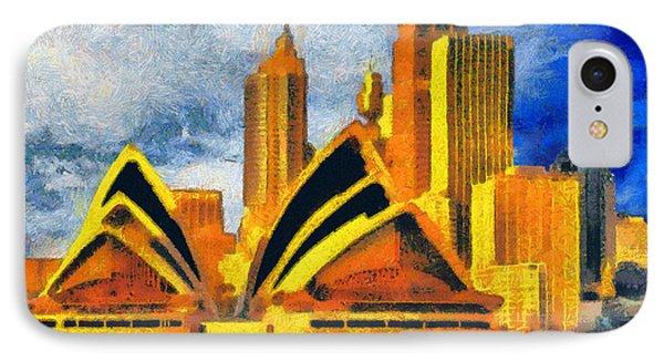Sydney Opera House Phone Case by George Rossidis