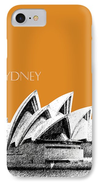 Sydney Skyline 3  Opera House - Dark Orange IPhone 7 Case by DB Artist
