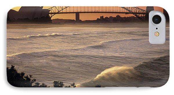 Sydney Surf Time IPhone Case by Sean Davey