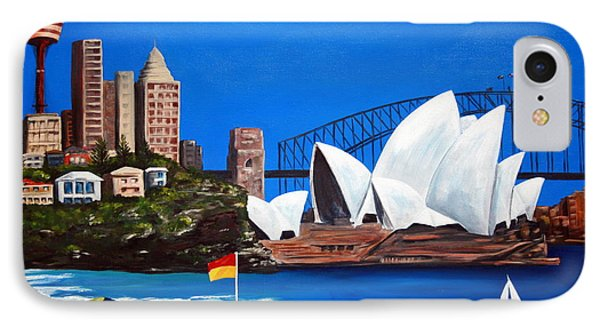 Sydneyscape - Featuring Opera House Phone Case by Lyndsey Hatchwell