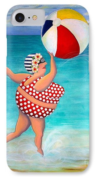 Sylvia At The Beach IPhone Case by Stephanie Troxell