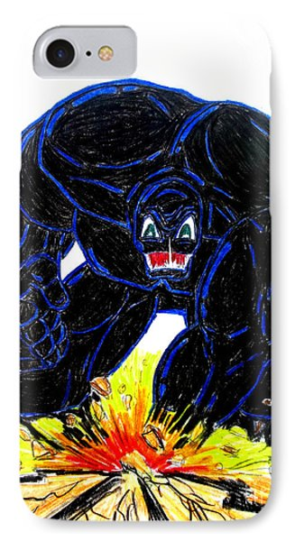 IPhone Case featuring the drawing Symbiote Guy by Justin Moore