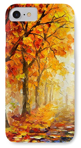 Symbols Of Autumn - Palette Knife Oil Painting On Canvas By Leonid Afremov IPhone Case